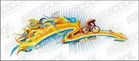 La tendance du cyclisme vecteur ��l��ment mat��riel