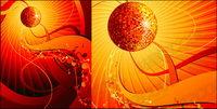 Die Entwicklung der Disco-Musik Element Vektor Material