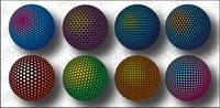 Three-dimensional spherical mat��riel de conception