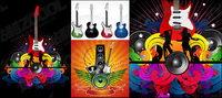 Guitar Thema Vektor-Material