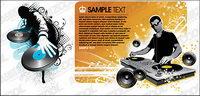 DJ spielt Disc Material Vektor Illustrationen