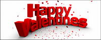 3D characters three-dimensional modeling picture happy valentine