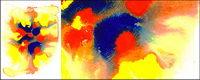 Bevor die Tinte Aquarell Bild Material-025