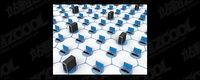 3D-Computer-Netzwerk verbindet Bildmaterial-11