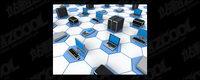 3D-Computer-Netzwerk verbindet Bildmaterial-12