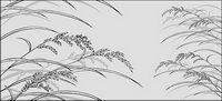 Linienzeichnung Blumen-23
