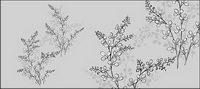 Vector dessin de fleurs -17