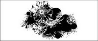 Noir et blanc mod��le vectoriel