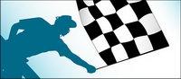 F1 bandera de lucha de material