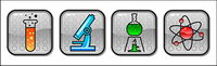 Vector icône de la cat��gorie de mati��res chimiques