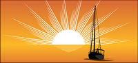 Mer, soleil, voile