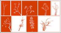 Vector klassischen Pflanzenmaterial