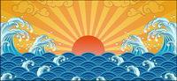 Le soleil, les vagues, Xiangyun vecteur mat��riel