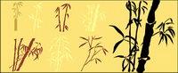 Bamboo silhouettes vecteur mat��riel