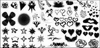 Go Media produit vecteur mat��riel - en forme de coeur et de la s��rie star