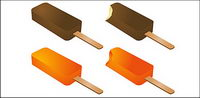 Summer popsicles vecteur mat��riel