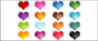 Colorful heart-shaped crystal effect