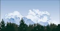 Vector Wald Himmel Wolken