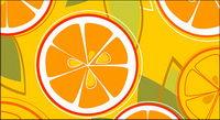 Orangen Kombination von Vektor -