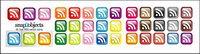 rss suscriptores de cristal pequeño icono de textura (el bot¨®n)