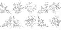 Fleur type de dessin diagramme vectoriel-4