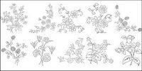 Fleur type de dessin diagramme vectoriel-5