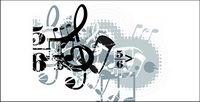 Musique, les ��l��ments de la conception du vecteur