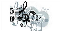 Musik-Design-Elemente-Vektor