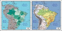 Vector map of the world exquisite material - Brazil map