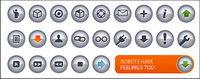 N-chrome texture de cristal petite icône (bouton) vecteur mat��riel