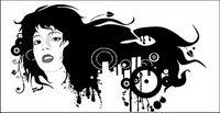 Buchse Schwarz-Weiß-Porträt der Trend Vektor Material