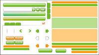 Web Design mat��riel - la d��coration, les boutons, la navigation
