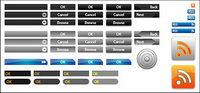 Web Design bouton vecteur de cas