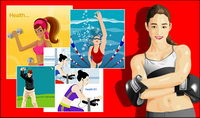 Vector package mat��riel sportifs