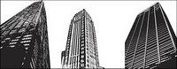 Vector modernes immeubles de grande hauteur