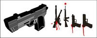 Military-related - guns vector material