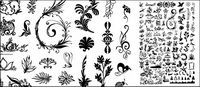 Hunderte von Mustern, Insekten, Bäume und andere Vektor-Material