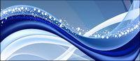 Aktive blauem Hintergrund Linien