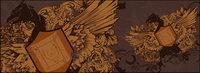 Águila y un escudo continental nostalgia