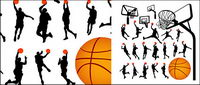 Basketball Figur Silhouetten und Lan Qiujia