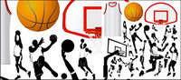 Basketball Elemente des Themas