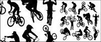 Ciclismo figuras del deporte siluetas