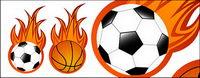 Le football et le basket-ball de flamme