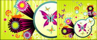 Butterfly lebendigen Stil und Muster