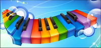 Colourful clavier