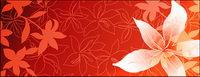 Lily Blumen und Linienzeichnung Vektor Hintergrundmaterial