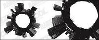 Ciudad en blanco y negro de material de vectores