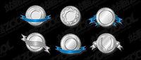 Silver badge vecteur mat��riel