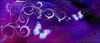 Purple Butterfly Dream Hintergrund und Muster
