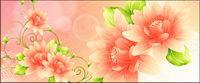 Dream vecteur de fond avec des fleurs